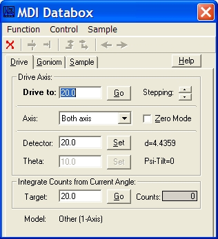 MDI Databox window