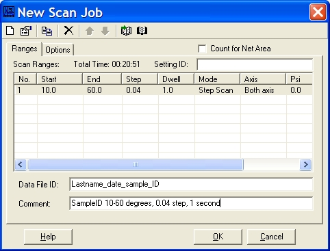 Routine Scan New Scan Job With Data